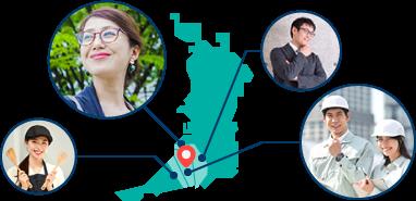 南大阪の中小企業を支えています!